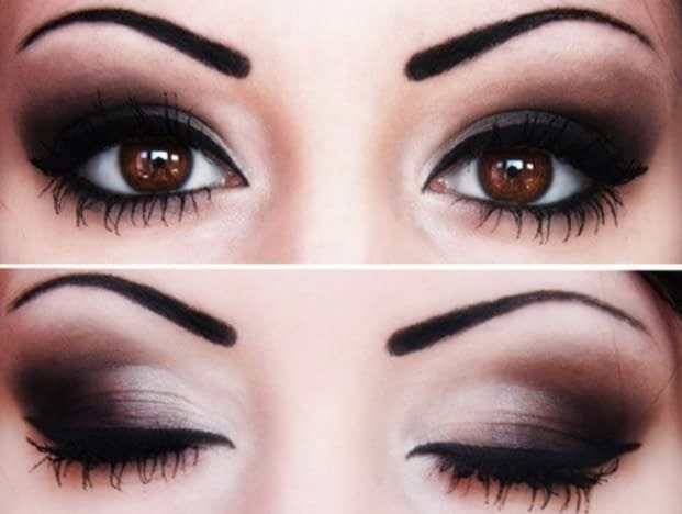 maquillaje de ojos edgy