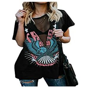 camiseta de manga corta cuello en v